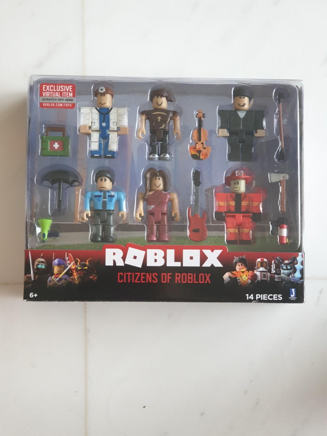 Brand New Citizens Of Roblox Toy Figures With Virtual Brand New Citizens Of Roblox 14 Pc Set With Virtual Code Toys Games Bricks Figurines On Carousell