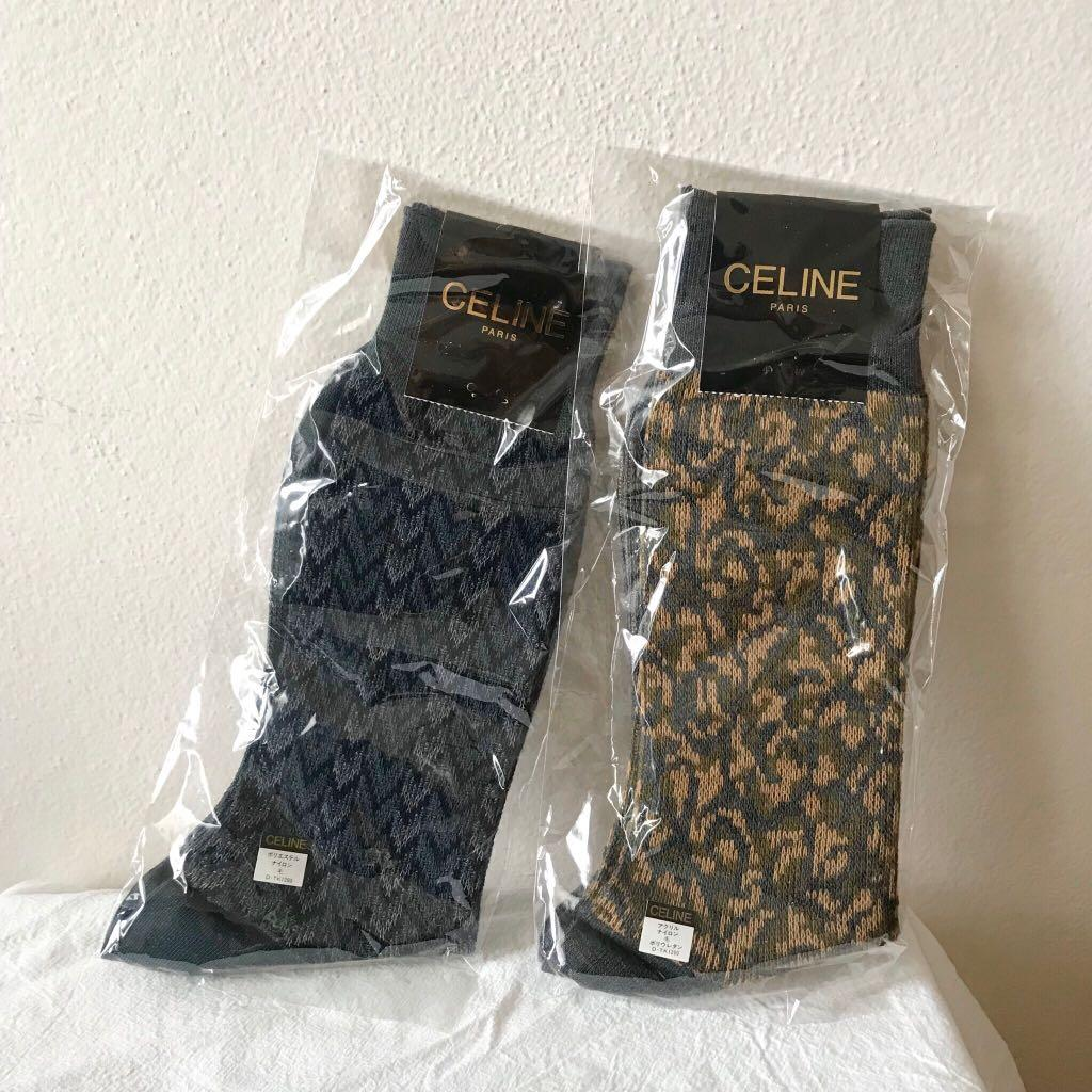 ✨Celine vintage pattern crew socks - set of 2 (brand new)✨
