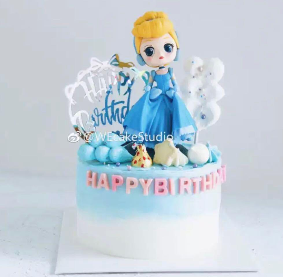 Excellent Cinderella Birthday Cake Topper Princess Decoration Toy Figurine Funny Birthday Cards Online Overcheapnameinfo