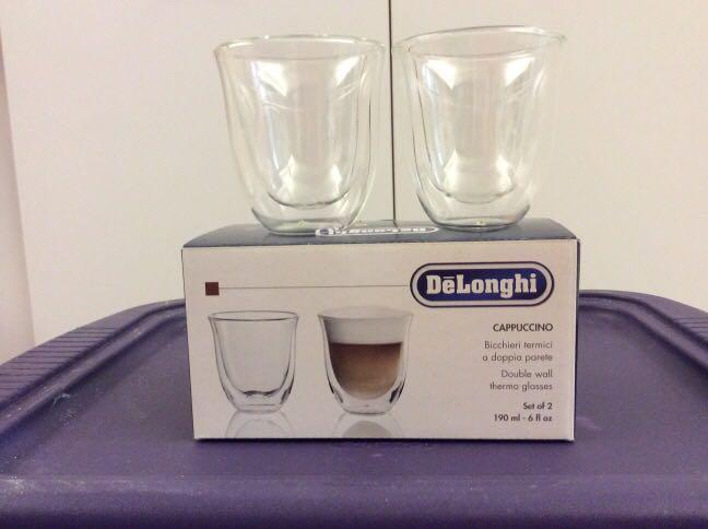 DeLonghi 玻璃咖啡杯 190 ml glass coffee cup