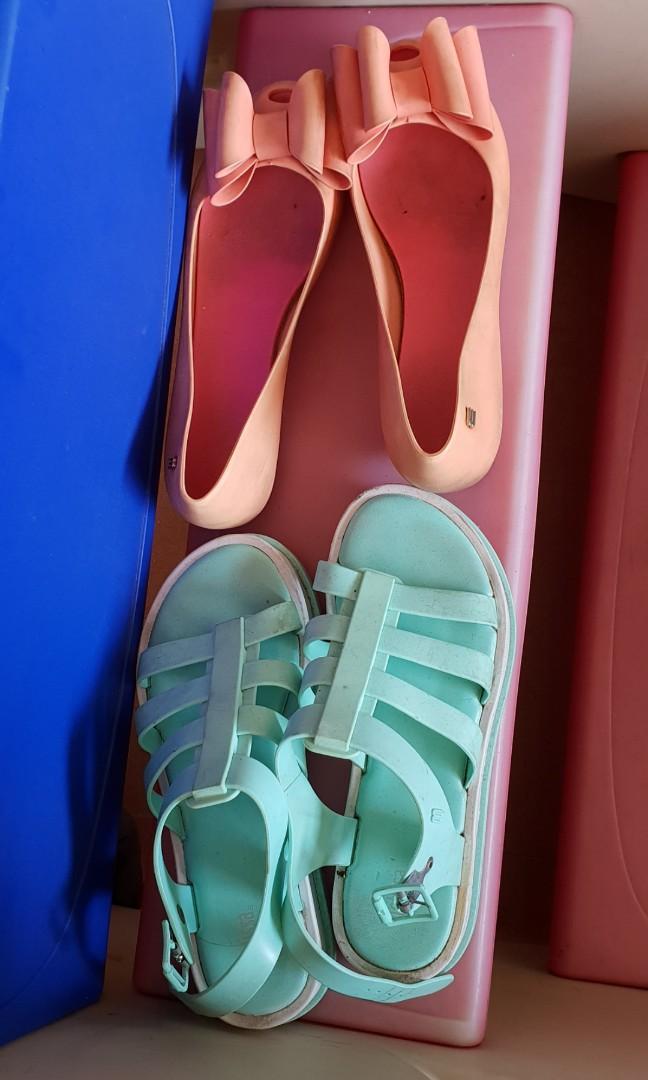 Original melissa Green and orange shoes