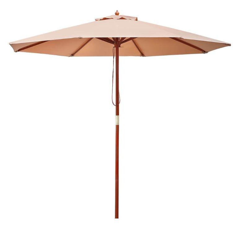Instahut 2.7M Outdoor Pole Umbrella Cantilever Stand Garden Umbrellas Patio Beige