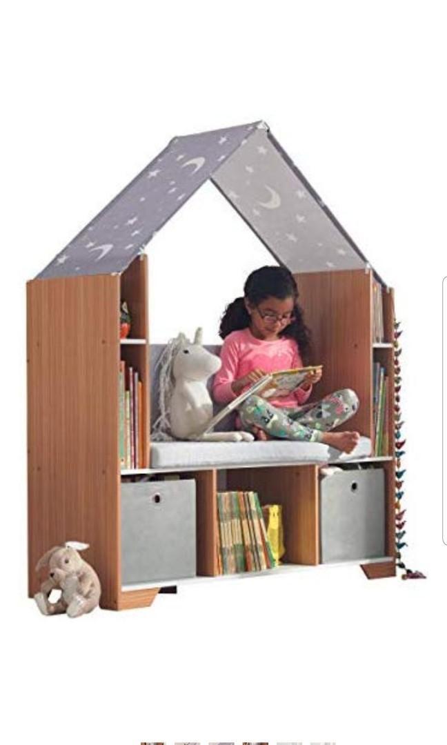 Kidkraft Little Dreamers Reading Nook Corner Book Shelf Toy Storage Unit Area Bookshelf Gray Toys Games Others On Carousell