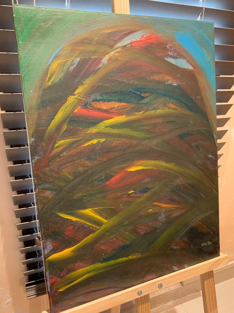 "Original Art Acrylic Painting ""Bound By Burden"""