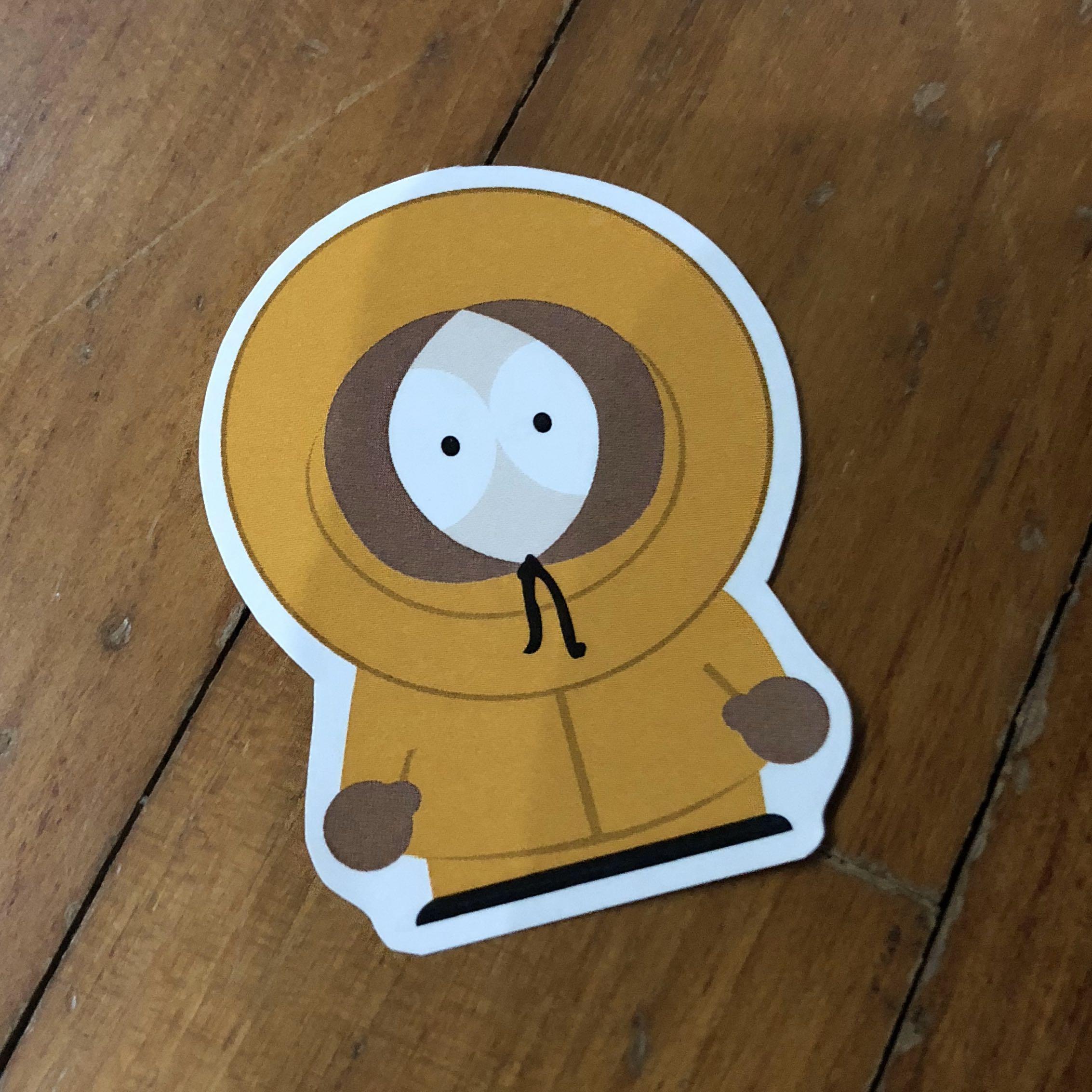 Pop Culture Luggage Laptop Misc Sticker Television TV Series Cartoon South Park Matt Stone Trey Parker Kenny Death Character