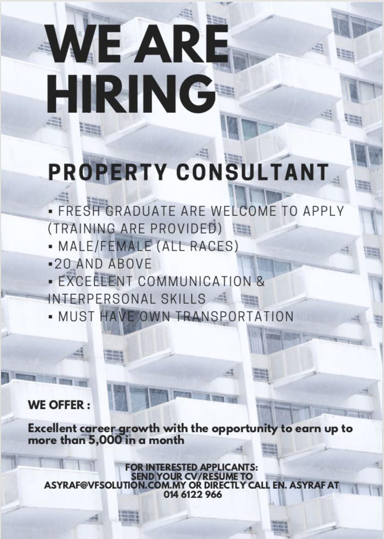 property consultant / perunding hartanah (wanted) JB
