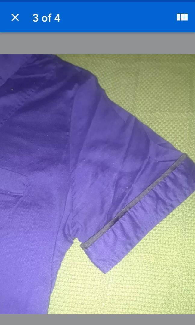 Purple mod T shirt grunge punk violet small #SwapCA
