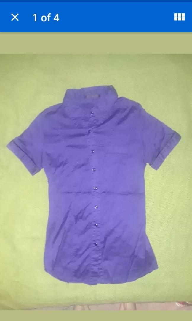 Purple mod T shirt grunge punk violet small #SwapCA