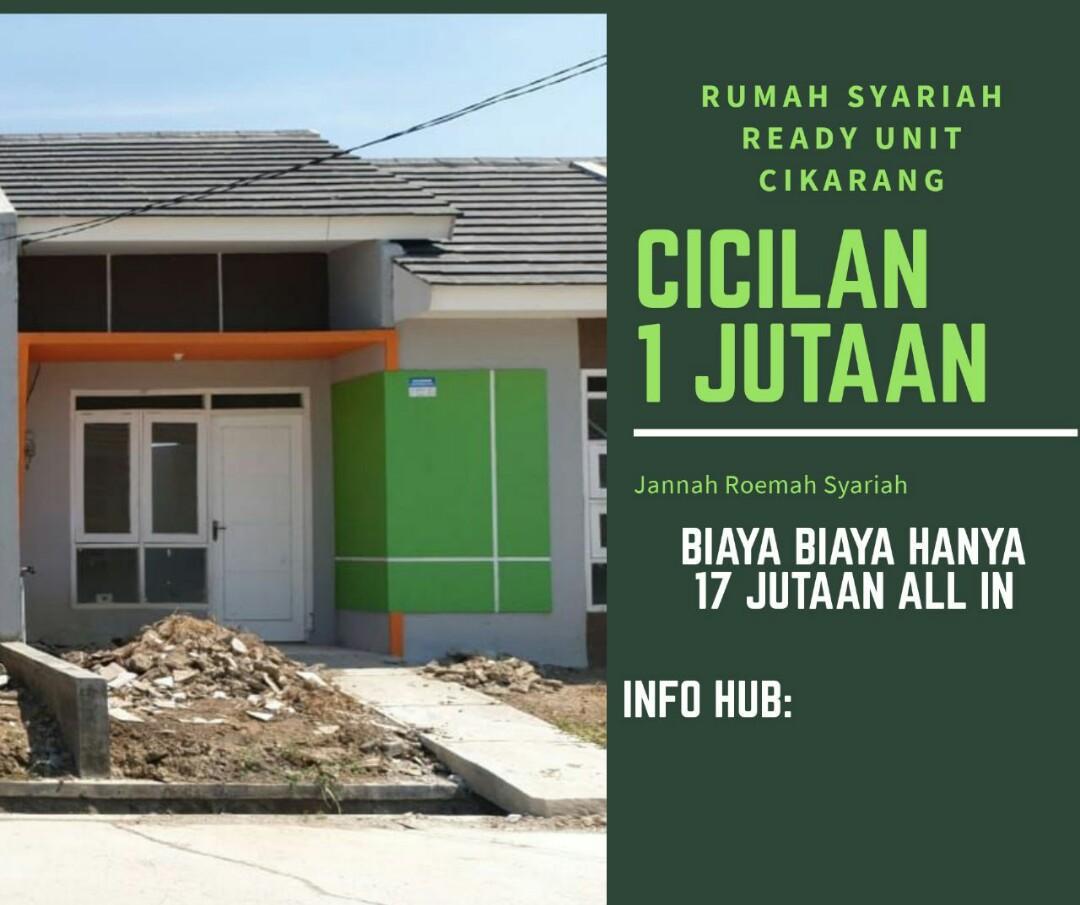 RUMAH READY UNIT CIKARANG KAB BEKASI DP RINGAN