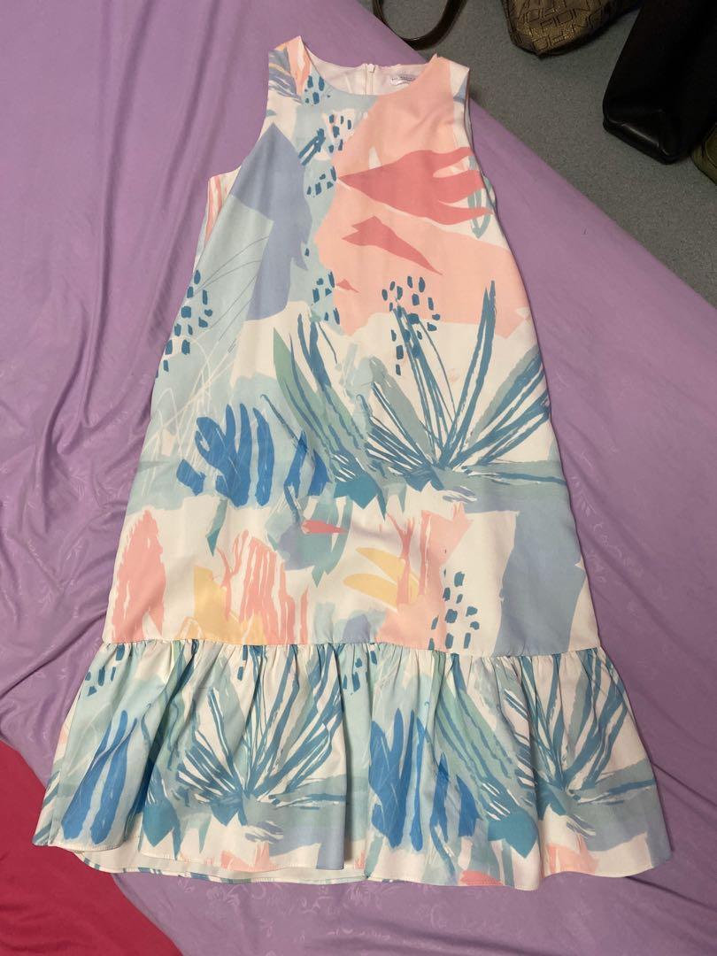(S) AWE Emma Pastel Dropwaist Dress