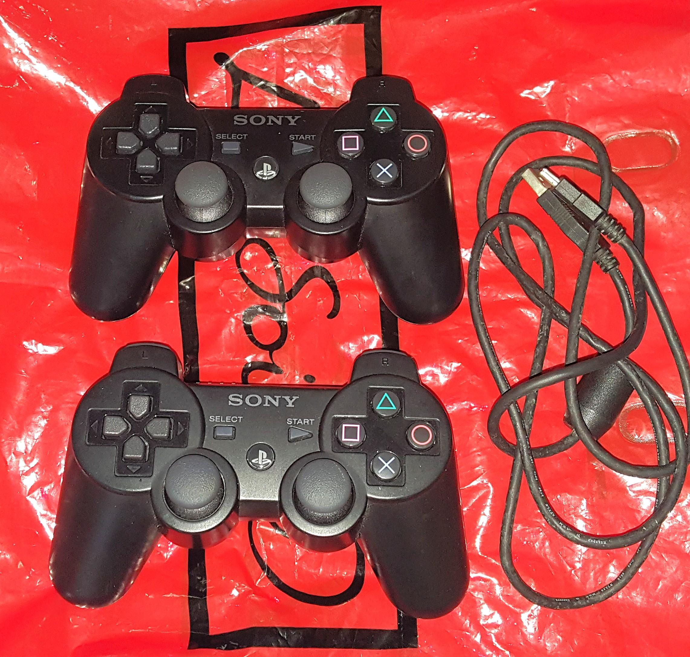 SONY PS3 Controllers + One USB Charger Cable, Buy 2 Controllers For $100.  100% Working.