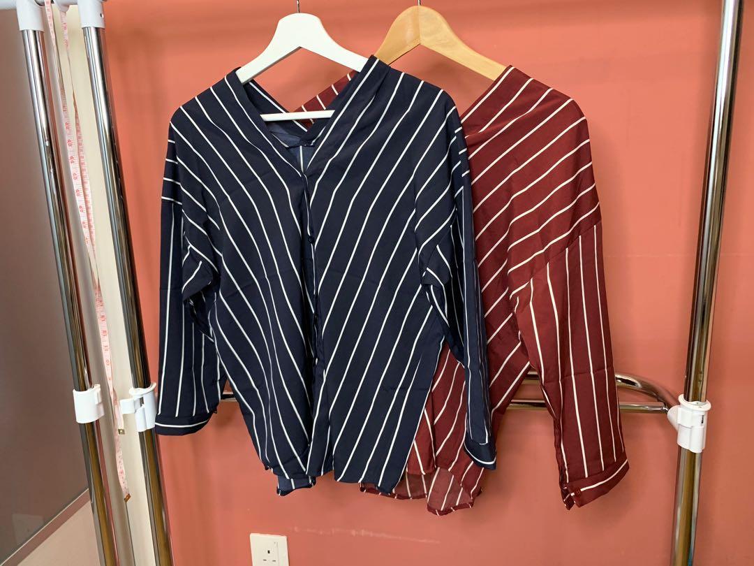 Strip blouse