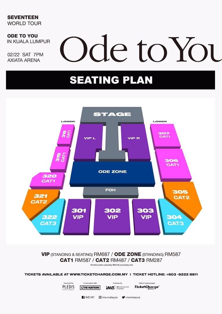 [ONLINE TICKETING SERVICE] SEVENTEEN ODE TO YOU IN KUALA LUMPUR