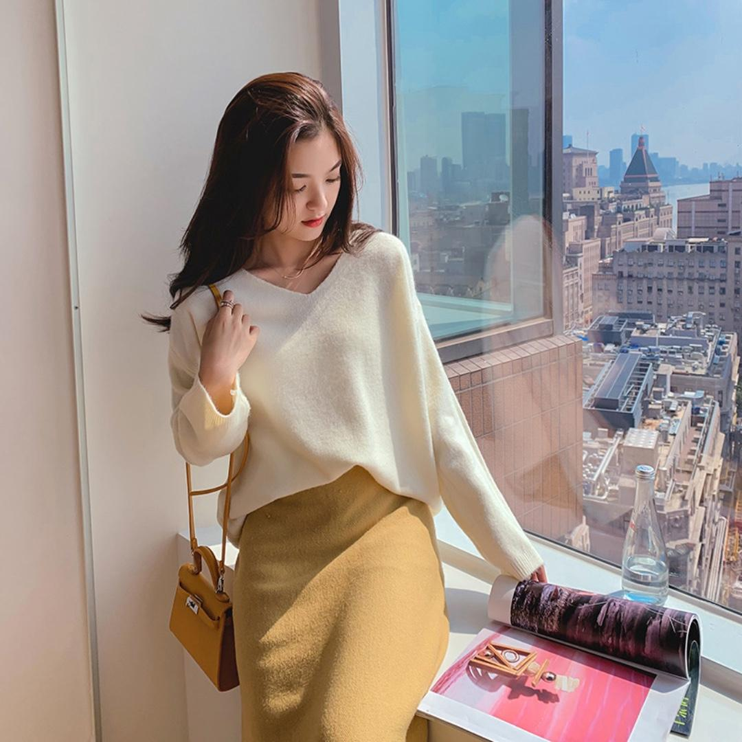 White Soft Knitted Sweater