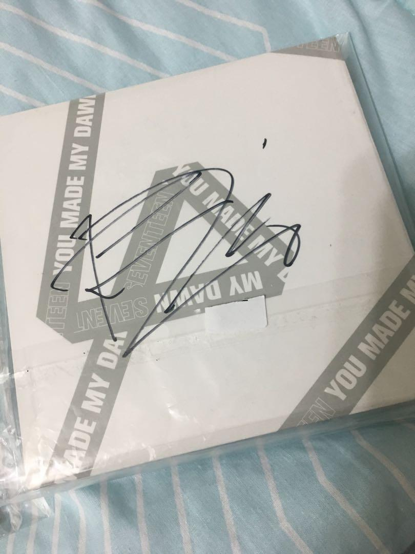 WTS FAST SEVENTEEN Signed You Made My Dawn Album DAWN ver