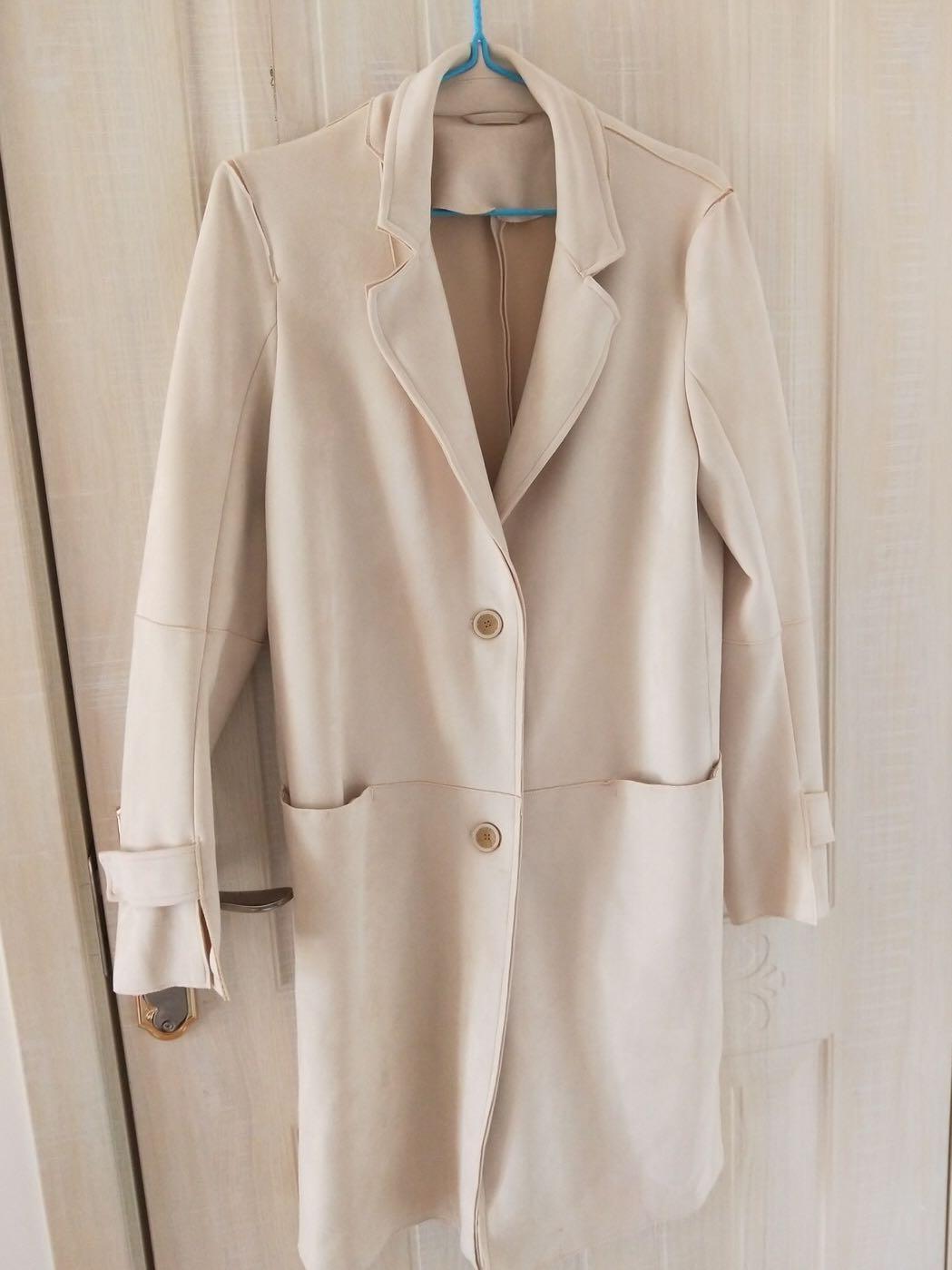 ZARA cream long blazer / coat
