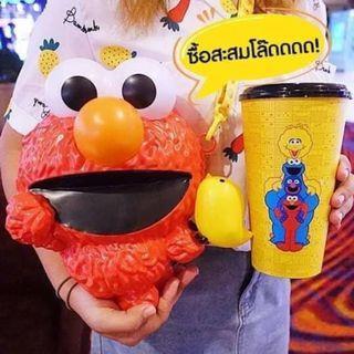 泰國限定 芝麻街爆米花桶+飲料杯