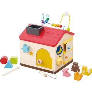 【預購】日本 | 森林遊戲屋(484226):積木!益智遊戲玩具組(尺寸:約29x26x25cm)_免運。