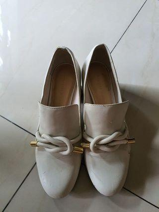 Charles & Keith Heels in White