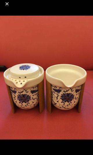 竹山手工茶壺組(茶壺、茶海、茶杯六只)
