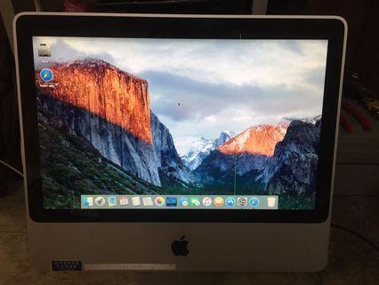 Apple iMac  20''螢幕(a1224) 螢幕有一條綠線,不影響使用 當 **零件機**賣  #會修的再買#