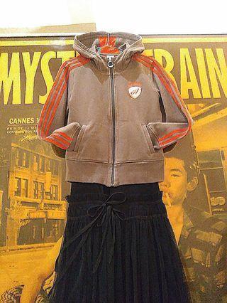 正品  adidas  撞色  三線  內絨毛  超高領  懷舊紀念款  連帽外套