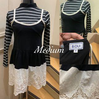 🍭B.OUI 💃🏻 Spaghetti Dress with lace 💰 130
