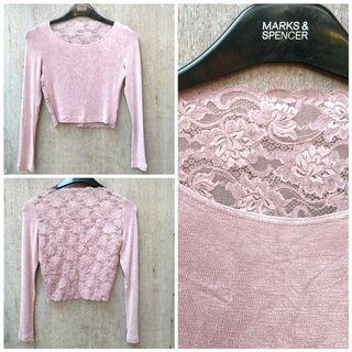 Laces pink top