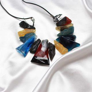 Nadine Colorful Acrylic Long Necklaces