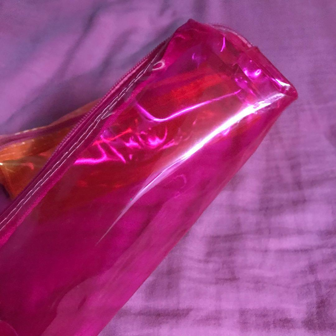 #10 NEON TRANSPARENT PENCIL CASE