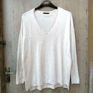 Zara V Neck Sweater S
