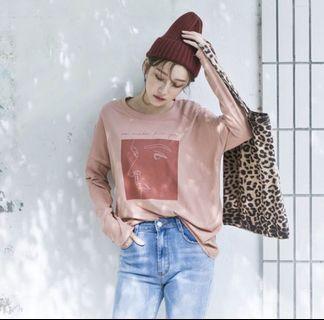 粉色薄長袖