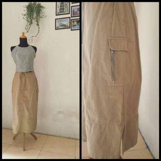 Long skirt  BKK / rok panjang cokelat / rok panjang keren / rok panjang cantik / rok panjang import / rok panjang Bangkok / rok panjang kekinian