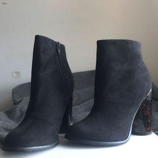歐美粗跟個性短/踝靴