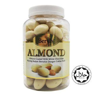 BERYLS ALMOND COATED WITH WHITE CHOCOLATE BOTTLE 450g