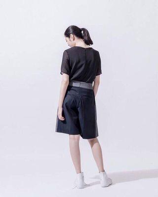 iohll 拼色西裝百褶褲裙studio doe