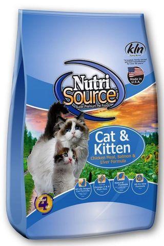 Nutri Source Cat& Kitten Chicken,  Salmon, Liver (3Kg)