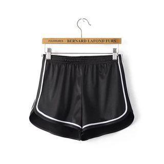 全新黑色運動小短褲