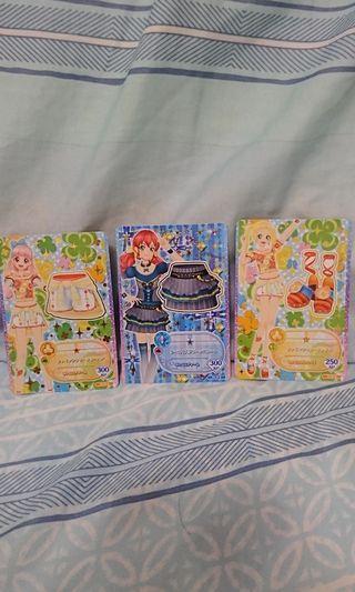 最新偶像學園遊戲卡 三張一起賣 臺灣正版