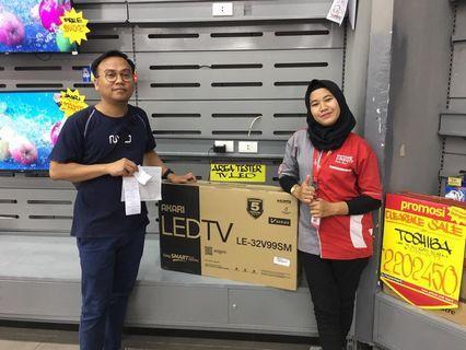 "Kredit LED TV AKARI 32"" SmartTv, Bisa Kredit"
