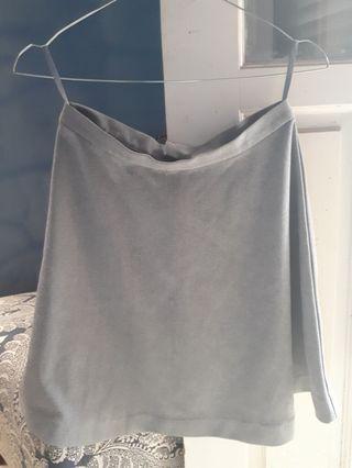 Grey Mini Skirt (FREE ONGKIR JABODETABEK)
