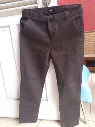 Celana Bahan Coklat (FREE ONGKIR JABODETABEK)