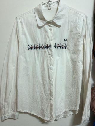 fifty%刺繡襯衫