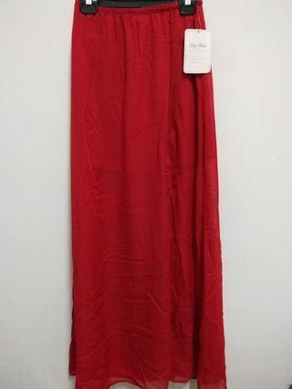美國製鮮紅色雪紡紗裙(9.5新)