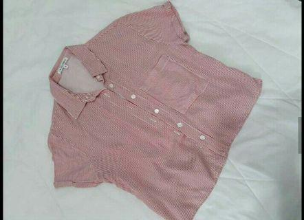 Stripe shirt pink by Colorbox