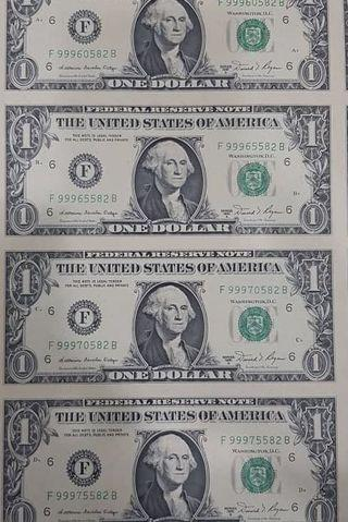 USD CURRENCY UNCUT