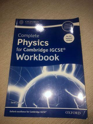physics cambridge igcse workbook
