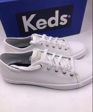 2019新款!Keds 新款皮質休閒鞋 簡約 小白 鞋青春活力 板鞋