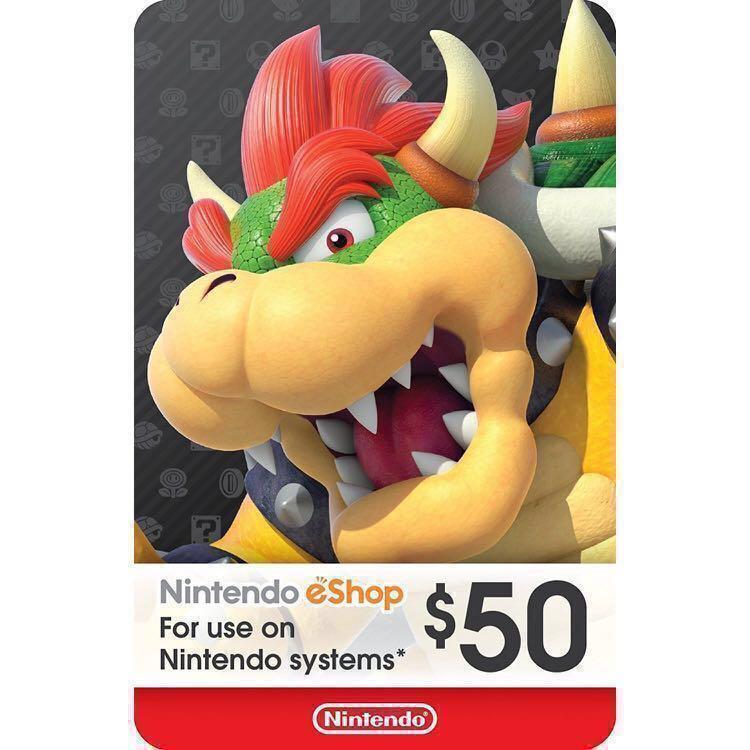 🆕$50 USD Nintendo Switch eShop gift card prepaid credit digital code