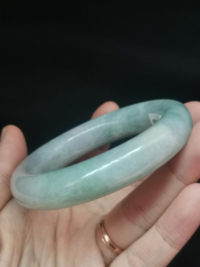 54mm type A fat circular jadeite bangle (胖圆种水福镯)